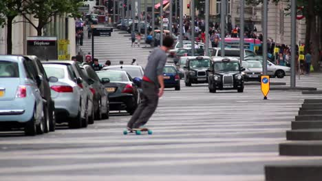 Skateboarding-in-the-Road